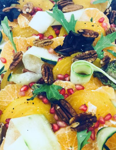 Sweet yellow beet and tangerine salad